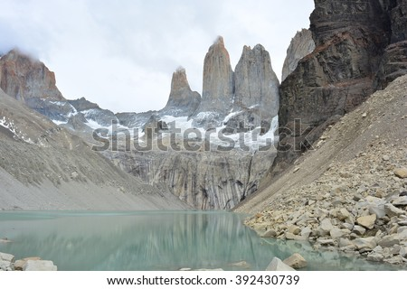 The three peaks at Torres del Paine National Park, Chile