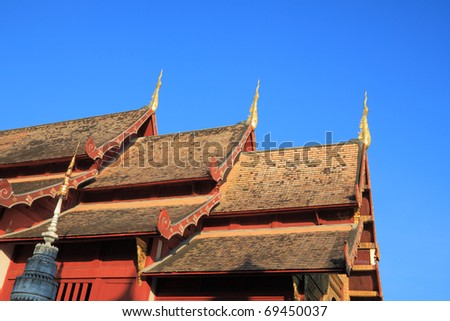 The three pinacle of temple roof.