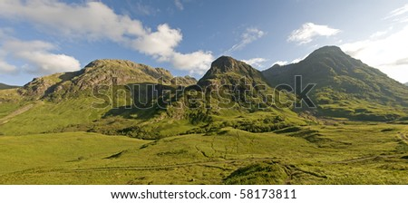 The three sisters of Glen Coe ,Scotland