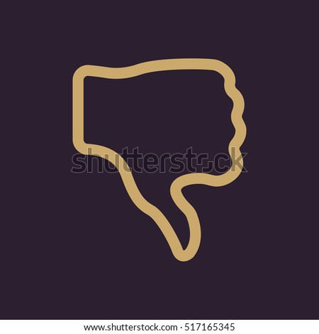 The thumb down icon. Rejected and no, negative symbol. Flat  illustration
