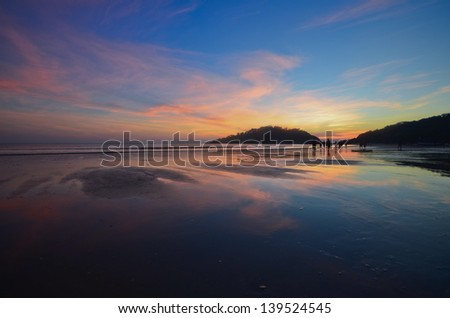 The tide - stock photo