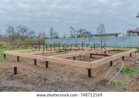 Pile foundation stock images royalty free images for Wood piling foundation