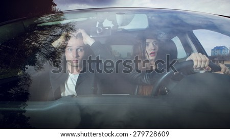 the time before the accident, fright, traffic accidents, people driving, female driver
