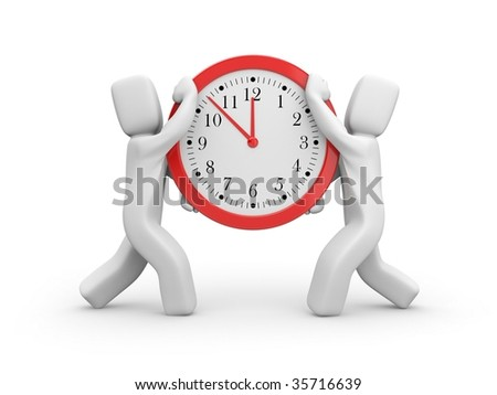 The time has come - stock photo