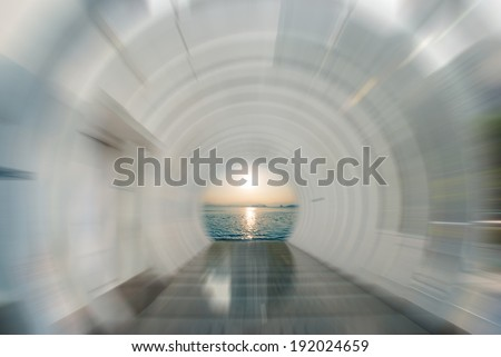 The time tunnel - stock photo