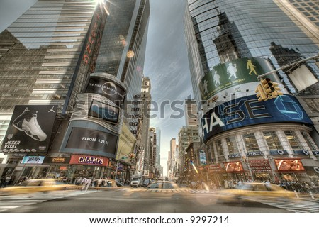 The Times Square in New York City - stock photo