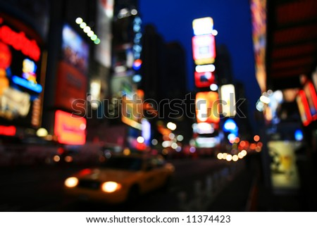 The Times Square - out of focus effect - perfect for stock image & Times Square New York City Night Stock Photo 7446403 - Shutterstock azcodes.com