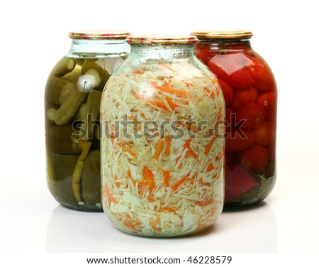 The tinned vegetables