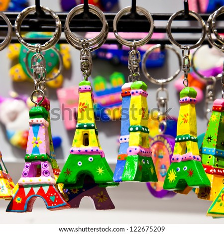 The tipical souvenir you can find in every single shop of Paris - stock photo
