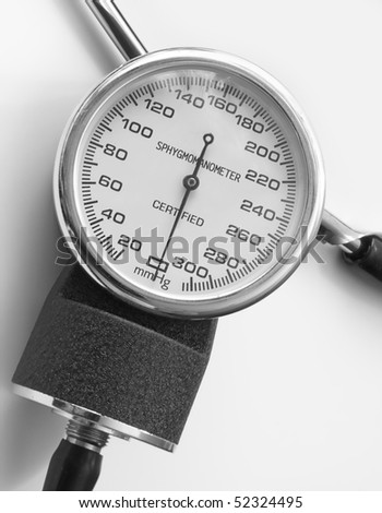The tonometer is the best device for measurement of a blood pressure at sick and healthy people - stock photo