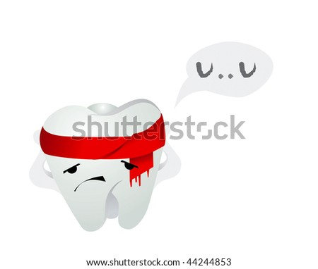 The tooth is ill - stock photo