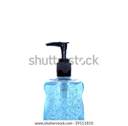 The top of a pump style hand sanitizer bottle - stock photo