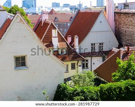 The top view on the old city, Tallinn, Estonia - stock photo