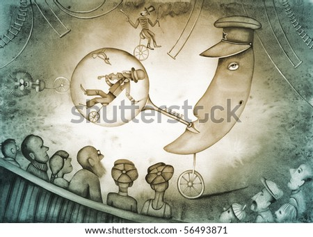 The Totalitarian Circus - Allegory of the Autocracy - stock photo