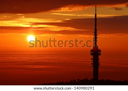 The tower and the sunset