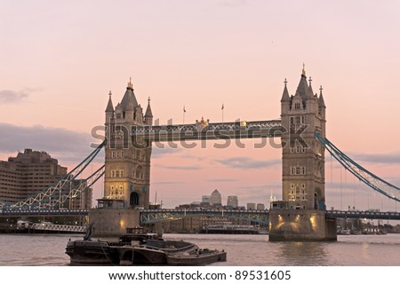 the tower bridge in London on River Thames