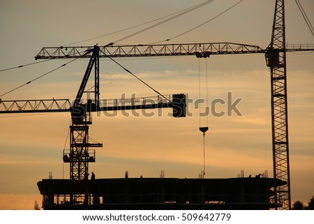 the tower cranes