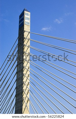 the tower of a bridge in America