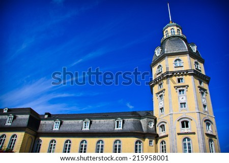 The tower of Karlsruhe castle, Germany