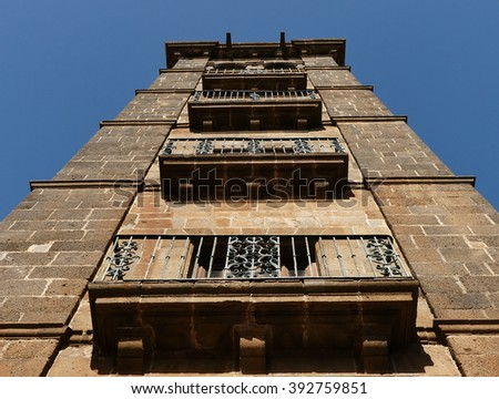 The tower of the Church of the Conception - stock photo