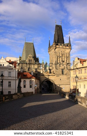 The Tower on the Charles Bridge in Prague