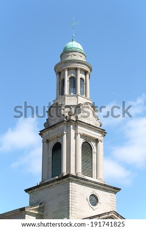 The tower to a church in Washington DC - stock photo