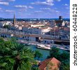 The town Agen, south-west of France, capital of Lot-et-Garonne, Aquitaine - stock photo