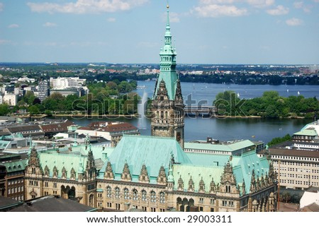 The Town hall of Hamburg (Germany)