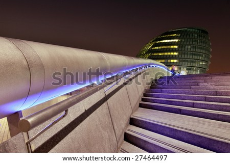 The townhall in london by night - stock photo