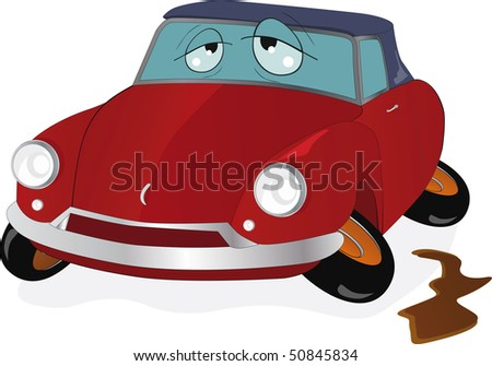The toy car with curve wheels - stock photo