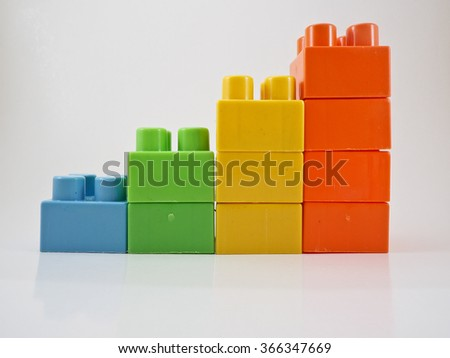 The toys arrange by pile up. - stock photo
