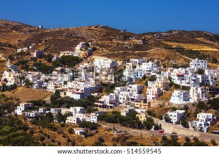 The traditional village of Kourounohori, Naxos island, Greece