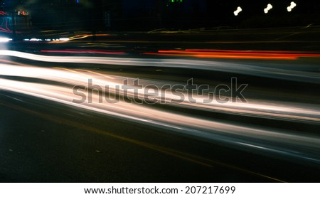 The traffic at night