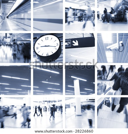 the transport concept with the scene at subway station. - stock photo