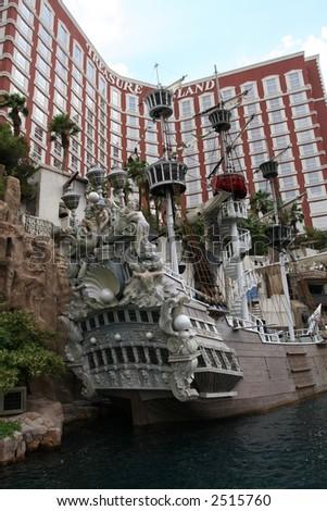 the Treasure Island Hotel and Casino, in Las Vegas, Nevada - stock photo