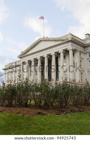 The Treasury Department in Washington, DC, United States - stock photo