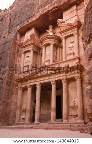 the Treasury (Khazne) in Petra, Jordan