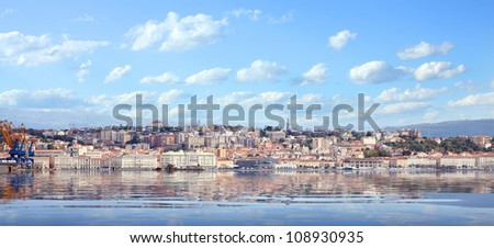 The Trieste City over a Adriatic sea. - stock photo