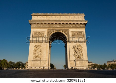 The Triumphal Arch , Paris, France. - stock photo