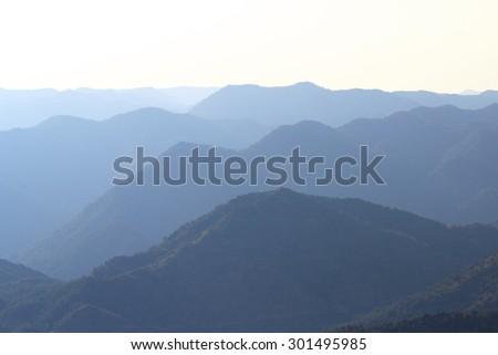 The Troodos mountain range, Cyprus - stock photo