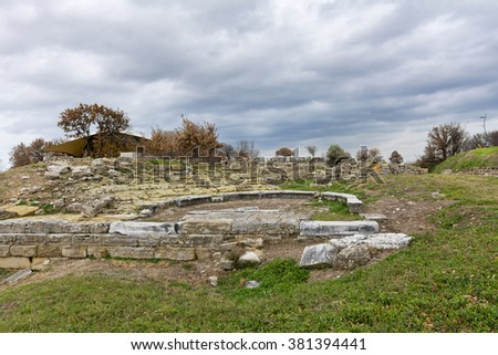 The Troy Ancient City, Canakkale - stock photo