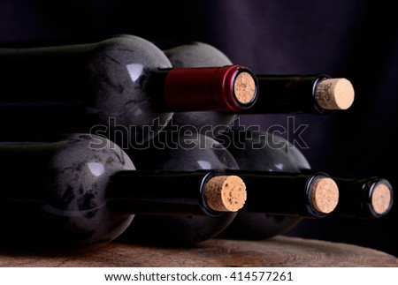 The true taste of wine which as music later time develops the value - stock photo