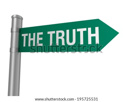 the truth - stock photo