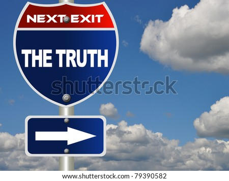 The truth road sign - stock photo