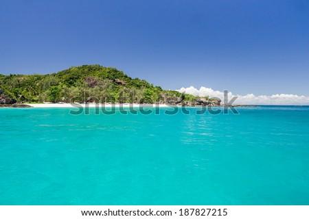 The Tsarabanjina island in the Mitsio archipelago near Nosy Be, Madagascar - stock photo