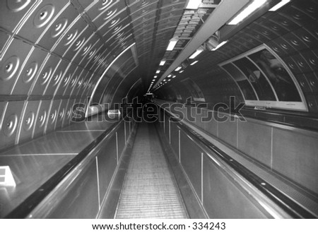 The Tube in London - stock photo