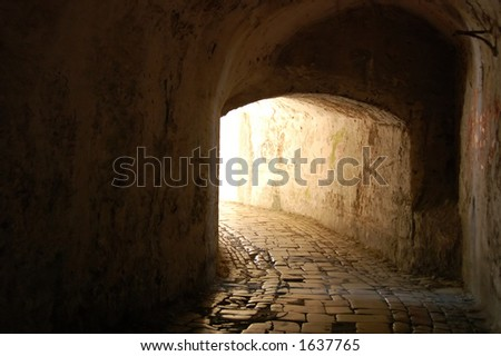 The Tunnel through Time - stock photo