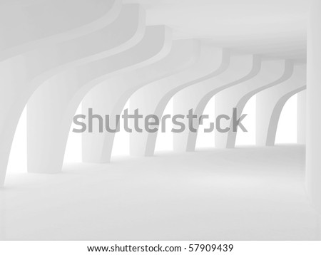 The tunnel with arch. 3d rendered image - stock photo