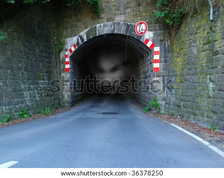The tunnel with Spirit - stock photo