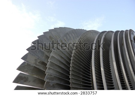 the turbine of an atomic power plant - stock photo